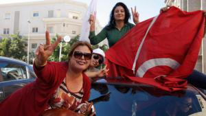 Supporters of Nidaa Tounes on 28.10.14 in Tunis following their party's election victory (photo: Reuters/Zoubeir Souissi)