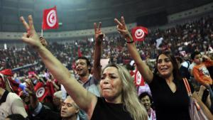 Supporters of Nidaa Tounes during an election rally in Tunis (photo: picture-alliance/dpa)