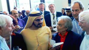 Hans Magnus Enzensberger with Adonis in Dubai. Foto: Günther Orth