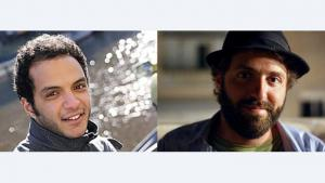 Iskandar Ahmad Abdalla, left, and Yuval Ben-Ami, right (photo: Goethe Institut)
