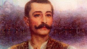 """Pierre Loti in front of Istanbul"" (1896), painted by Lucien Lévy-Dhurmer (photo: Nr. 1 Exposition Loti, Paris)"