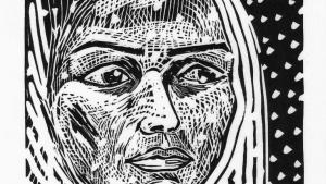 Portrait of Lubna, Cutting Away the Void (source: Mirror Image)