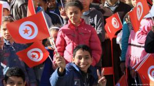 Young supporters of Tunisia's new president Beji Caid Essebsi in Tunis (photo: Getty Images/AFP/B. Tunis)