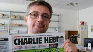 Stephane Charbonnier, cartoonist at and director of Charlie Hebdo (photo: dapd)