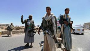 Houthi rebels at a checkpoint in Yemen (photo: Reuters/K. Abdullah)