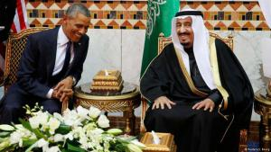 President Obama and King Salman bin Abdulaziz (photo: Reuters)