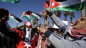 Demonstration in Amman in support of the Jordanian government in the fight against terrorism (photo: picture-alliance/AP Photo/R. Adayleh)