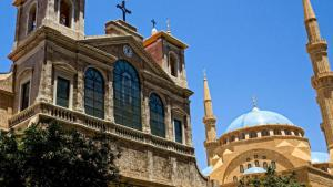 A mosque and a church in Beirut (photo: DW/K. Zein-Eddine)
