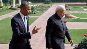 US President Barack Obama and Indian Prime Minister Narendra Modi during Obama's state visit to India on 25 January 2015 (photo: picture-alliance/AP Images)