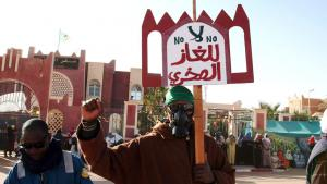 Anti-fracking protests in Ain Salah (photo: Billal Bensalem/ABACAPRESS.COM)