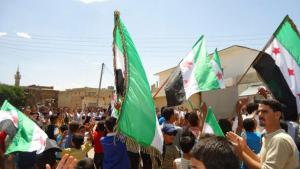 Protests against Bashar al-Assad on 25 May 2012 in Daraa, Syria (photo: Reuters)