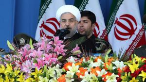 Iranian President Hassan Rouhani during a military parade in Tehran on 18 April 2014 (photo: A. Kenare/AFP/Getty Images)