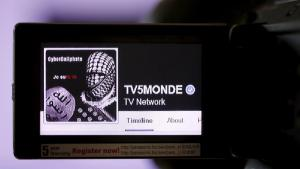 The hacked Facebook page of the French international broadcaster TV5Monde