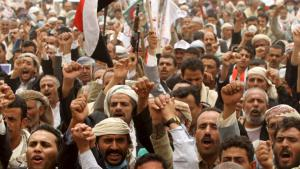 Supporters of Yemen's former president Ali Abdullah Saleh demonstrating in Sanaa on 13 May 2015 (photo: Reuters/Mohamed al-Sayaghi)