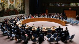 The UN security council voting on a Syria resolution on 22 February 2014 (photo: Reuters)
