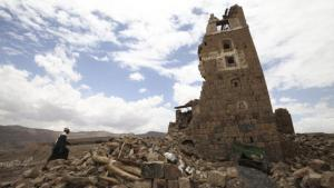 A building in Faj Attan, near Sanaa, destroyed in a Saudi airstrike (photo: Reuters/M. Al Sayaghi)