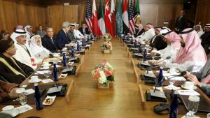 US President Obama during a summit meeting with representatives of the Gulf Cooperation Council at Camp David (photo: Reuters/K. Lamarque)