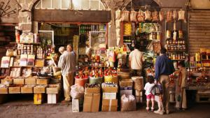 Bazaar in Damascus (photo: picture-alliance/bildagentur-online.com)