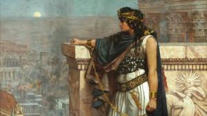 "The painting ""Queen Zenobia's Last Look Upon Palmyra"" by Herbert Gustave Schmalz (photo: picture-alliance/heritage images)"