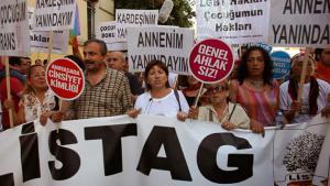An LGBT demonstration in Istanbul (photo: Dorian Jones/DW)