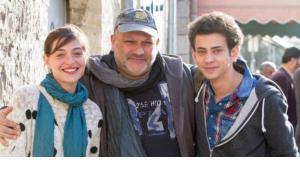 From left: Danielle Kitzis, Eran Riklis and Tawfeek Barhum (photo: NFP (Filmwelt))