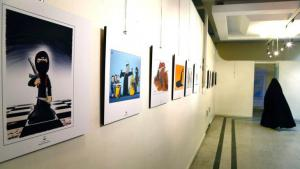 Exhibition of anti-IS cartoons in Tehran (photo: picture-alliance/dpa/A. Taherkenareh)
