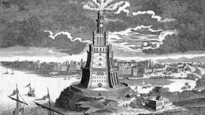 Drawing of the Lighthouse of Alexandria (source: picture-alliance)