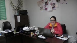 Lebanese women's rights activist Hayat Mirshad in her Beirut office (photo: Juliane Metzker)