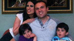 Naghme Abedini with her husband and children (photo: American Center for Law and Justice/AFP/Getty Images)