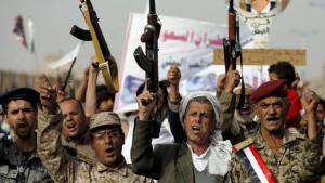 Houthi rebels in the Yemeni capital Sanaa (photo: Reuters/K. Abdullah)