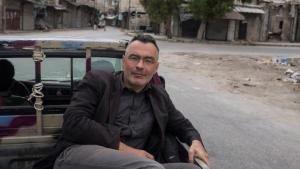 Christoph Reuter travelling through Aleppo in May 2015 (photo: Christoph Reuter)