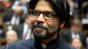 Pankaj Mishra at the book fair in Leipzig, 2014 (photo: picture-alliance/dpa)
