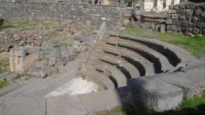 The Roman amphitheatre in Suwaida, Syria (photo: Wikipedia)