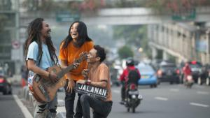 "Ho, Titi and Boni, the three protagonists in the documentary ""Jalanan"" (source: Jalananmovie.com)"