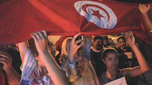 Tunisians demonstrating against terrorism after the Sousse attack (photo: picture-alliance/AA/Y. Gaidi)