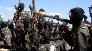 Al-Shabab fighters in Somalia (photo: picture-alliance/AP Photo/F.-A. Warsameh)