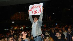 Jordanian demonstrator in Amman demands regime change, 13.11.2012 (photo: Jamal Fkhaidah/DW)