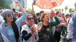 Protesting corruption in Iraq (photo: Deutsche Welle)