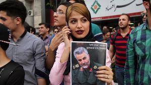 Demonstration by General Qassem Soleimani′s supporters in Mashhad (photo: SNN.ir)