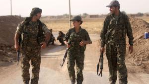 Foreign fighters allied with the PPU in Syria (photo: DW/K. Sheikho)