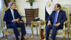 US Foreign Minister John Kerry with Egyptian President Abdul Fattah al-Sisi in Cairo (photo: Reuters/B. Smialowski)