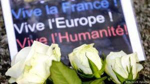 Flowers laid at one of the attack sites: Club Bataclan in Paris (photo: Reuters)