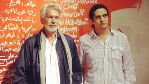 Chris Dercon (l) with the Palestinian poet Ashraf Fayadh (photo: Ashraff Ayadh/Instagram)