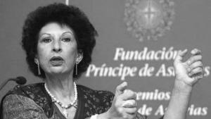 The Moroccan feminist Fatima Mernissi (photo: J. L. Cereijdo/AP)