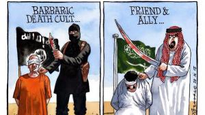 Cartoon by Peter Brookes published in The Times