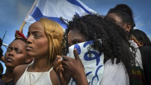 Young Ethiopians protesting against racism, discrimination and police brutality. Tel Aviv, 3 May 2015 and 22 June 2015 (photo: Dan Haimovich/freelance photographer)