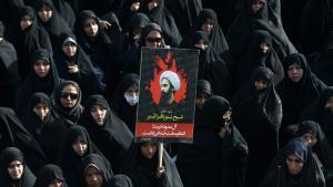Protests in Tehran over the execution of the Shia cleric Sheikh Nimr Baqir al-Nimr in Saudi Arabia (photo: picture-alliance/AP Photo/V. Salemi)