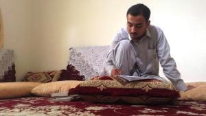 The Afghan author Taqi Akhlaqi (photo: ARD)