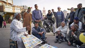 Storyteller Mohamed Jabri on Djemaa el Fna square (photo: © Thomas Ladenburger)