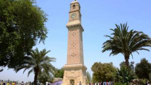 1.The historic Qishleh clock on Saray Market in Baghdad: the clock tower was one of Baghdad's landmarks for centuries. The clock at the top of a tower was built in 1868 by the Ottoman ruler Midhat Pasha at the heart of his seat of government and served as orientation for the local residents. These days the view of the tower is blocked by numerous tall buildings